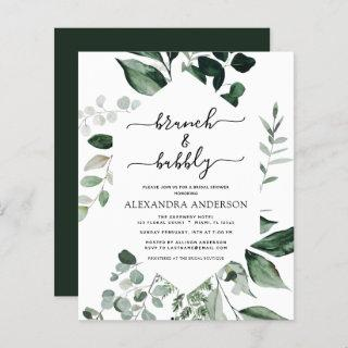 Budget Brunch & Bubbly Bridal Shower Greenery