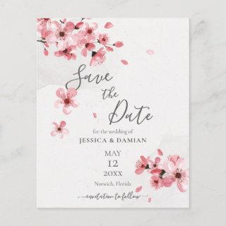 Budget Cherry Blossom Floral Wedding Save The Date