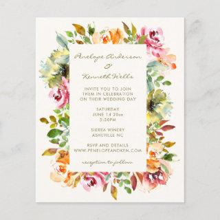 Budget Chic Watercolor Floral Wedding