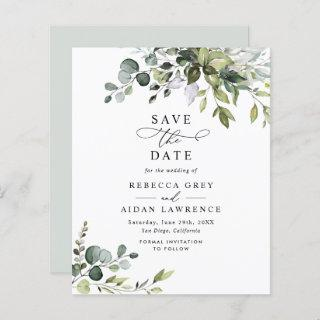 Budget Eucalyptus Leaves Greenery Save the Date