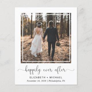 Budget Happily Ever After Wedding Reception Photo