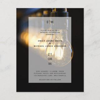 Budget Industrial Edison lights Warehouse Wedding
