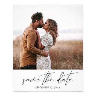 Budget Modern Chic Photo Vertical W Save the Date Flyer