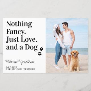 Budget Nothing Fancy Just Love Dog Save The Date