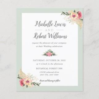 BUDGET Pretty Sage and Pink Floral wedding
