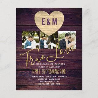 Budget Rustic Photo Collage Wedding Invitations
