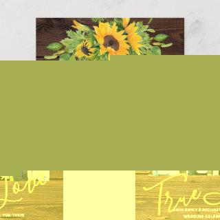 Budget Rustic Sunflowers Photo Wedding Invitations