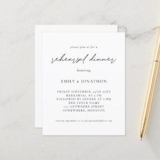 Budget Simple Any Color Rehearsal Dinner Invite