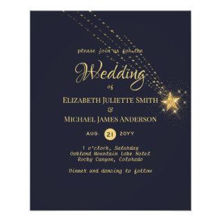 Budget Stars at Night Wedding Invite Flyer