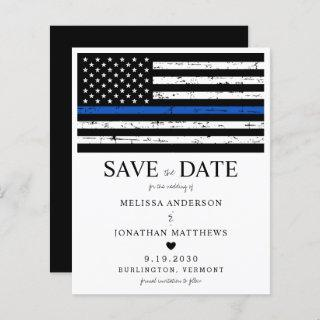 Budget Thin Blue Line Police Wedding Save The Date