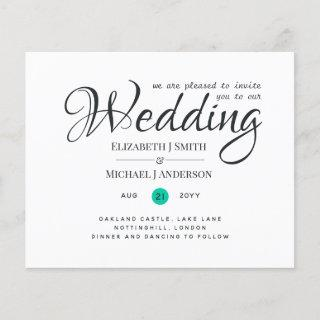 Budget TYPOGRAHY (can customize COLOR) Wedding