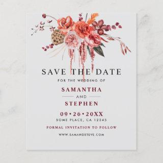 Budget Watercolor Floral Wedding Save The Date