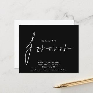 Budget We Decided on Forever Black Save The Date