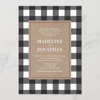 Buffalo Plaid Wedding Invitations