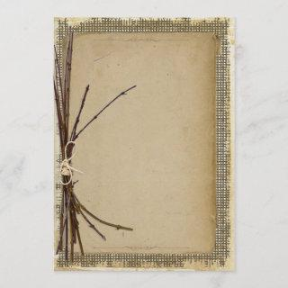 Burlap, Twigs and Twine Template ID132