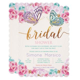 Butterfly Bridal Shower Invitations