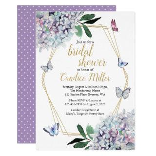 butterfly bridal shower Invitations purple lavender