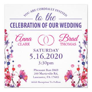 Butterfly Floral Wedding Invitations