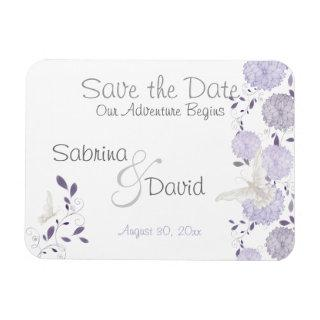 Butterfly Lilac Chrysanthemums Save the Date Magnet