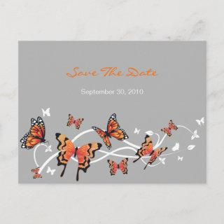 Butterfly Save The Date Wedding Announcement