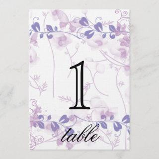 Butterfly Visions Lilac Anniversary Table Number