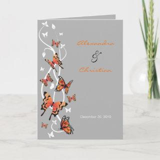 Butterfly Wedding Invitations Announcement