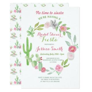 Cactus Bridal Shower Party Fiesta Mexican Invite