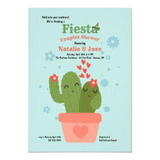 Cactus Couple Couples Shower Invitations