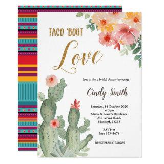Cactus Taco bout Love Bridal Shower Invitation