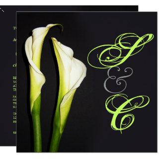CALLA LILIES WEDDING INVITATIONS/DIY BACKGROUND INVITATION