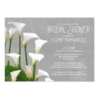 Calla Lillies Bridal Shower Invitations