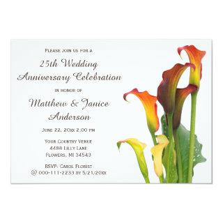 Calla Lilly Wedding Anniversary Celebration Invite