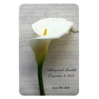 calla lily on handwriting flexible magnet