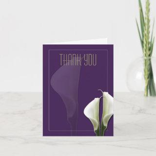 Calla Lily Thank You Note on Purple