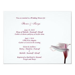 Calla Lily Wedding Shower Invitation
