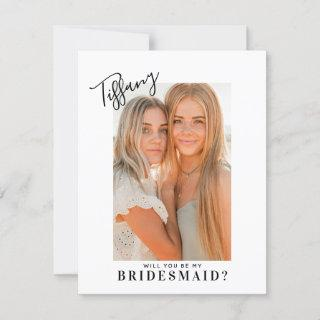 Calligraphy Name Will You Be My Bridesmaid | Photo