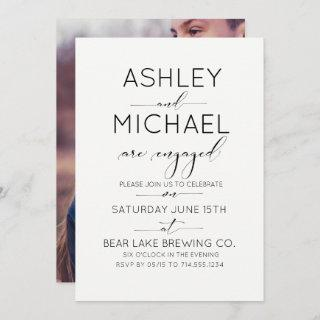 Calligraphy Typography Engagement Party Invitations