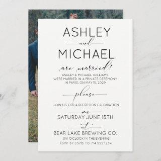 CALLIGRAPHY TYPOGRAPHY Reception Only Photo Invitation
