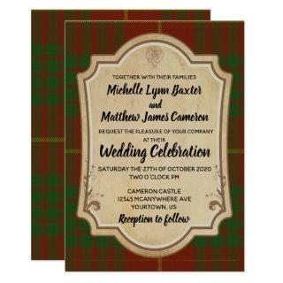 Cameron Tartan Wedding Invitation