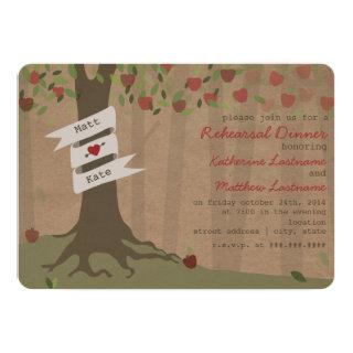 Cardboard Inspired Apple Orchard Rehearsal Dinner Invitations