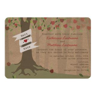 Cardboard Inspired Apple Orchard Wedding Invite