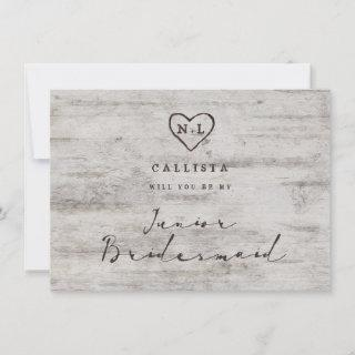 Carved Sweetheart Be My Junior Bridesmaid Proposal