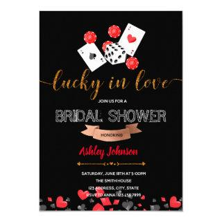 Casino lucky in love party Invitations