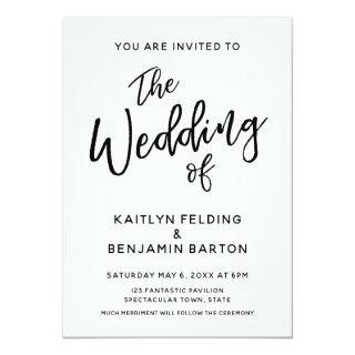 Casual, Modern, Minimal Typography Wedding Invitations