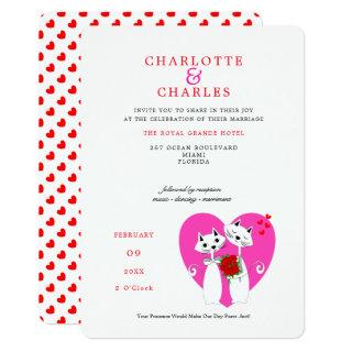 Cat Lovers Bride | Groom Purrr..fect Wedding Invitations