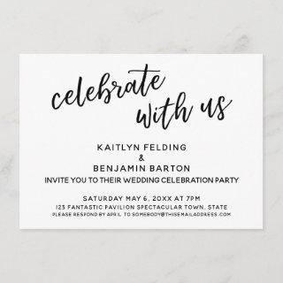 """""""Celebrate with Us"""" Casual Wedding Reception-Only"""
