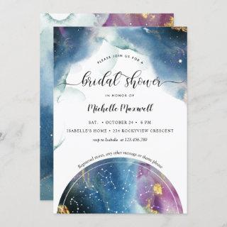 Celestial Constellations and Stars Bridal Shower Invitations
