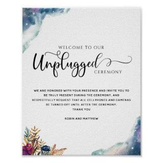 Celestial Mystic Garden Unplugged Ceremony Sign