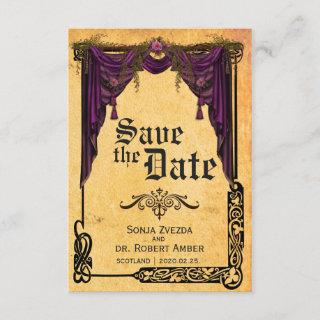 Celtic Curtain Wedding Save the Date Invitations
