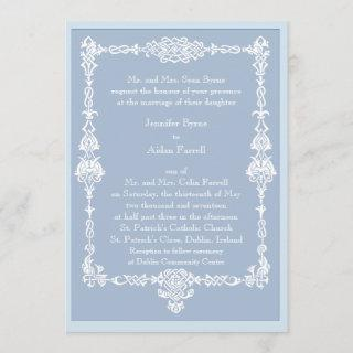 Celtic Frame Wedding Invitation - style 2